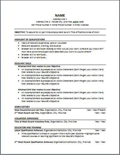 functional-resume-5 Business Pinterest Functional resume