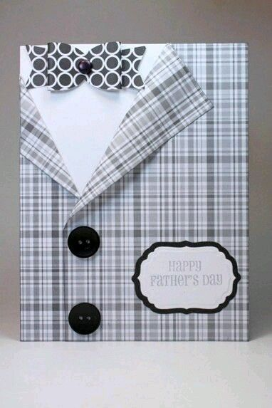 Pin by on pinterest cards the lapels of the jacket are tacked back to add a realistic look to this handmade fathers day card bookmarktalkfo Image collections