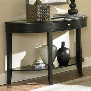 Half Moon Entry Table Contemporary Console Table Wood Sofa