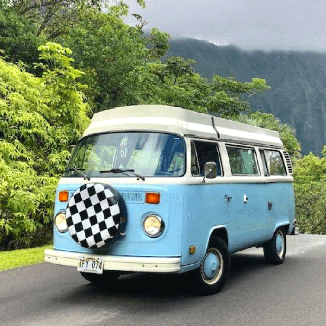 Looking For A Truly Unique Way To Experience Hawaii Try Camping On Oahu In A Vintage Volkswagen Cam Volkswagen Camper Van Volkswagen Camper Vintage Volkswagen