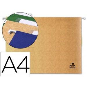 10 Carpetas colgantes A-4 visor superior kraft natural