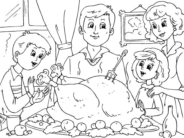 Familia El Dia De Accion De Gracia Gif 640 480 Thanksgiving Coloring Pages Coloring Pages Free Thanksgiving Coloring Pages