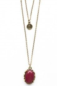 Burgundy Gem Necklace