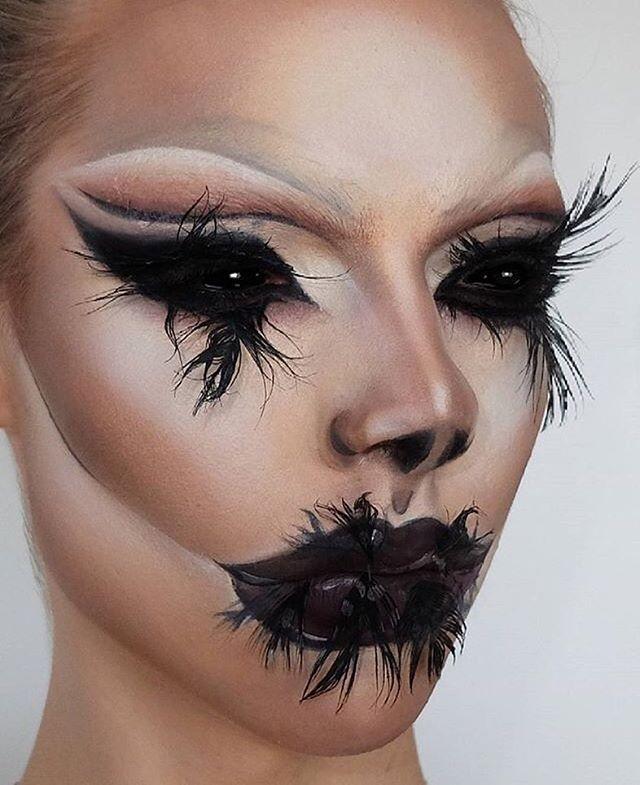 Love this! Getting some halloween inspo #halloween #makeup newin
