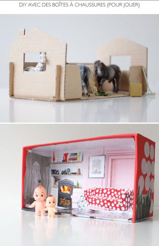 l atelier du mercredi avec des bo tes chaussures avec du carton boite a chaussure bo te. Black Bedroom Furniture Sets. Home Design Ideas