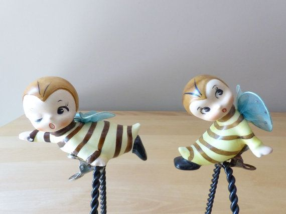Vintage Scarce Norcrest Pixie Bee Boy & Girl by thetoadhouse, $99.99