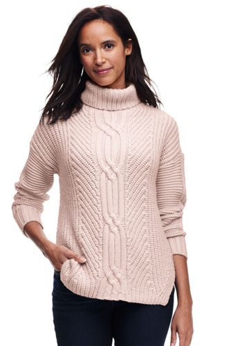 0be8d330bee4 Women s Shaker Cable Turtleneck Sweater from Lands  End