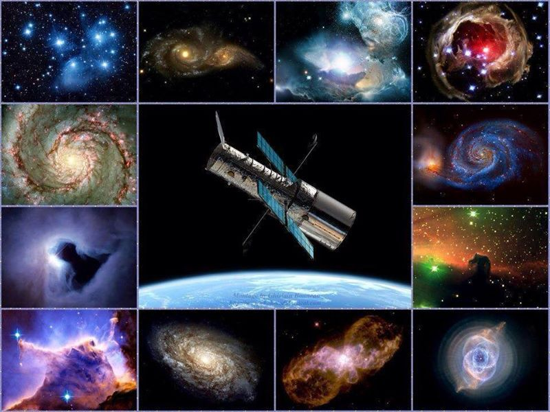 Different galaxies captured by the Hubble Space Telescope