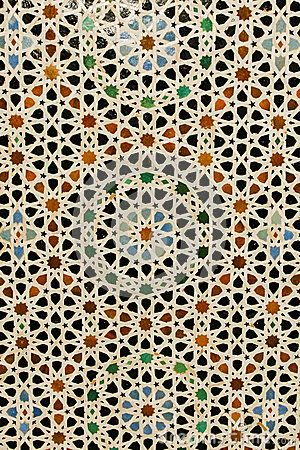 Shape Over Laying Colors Abstract Background Colorful Inlaid Moroccan Tile