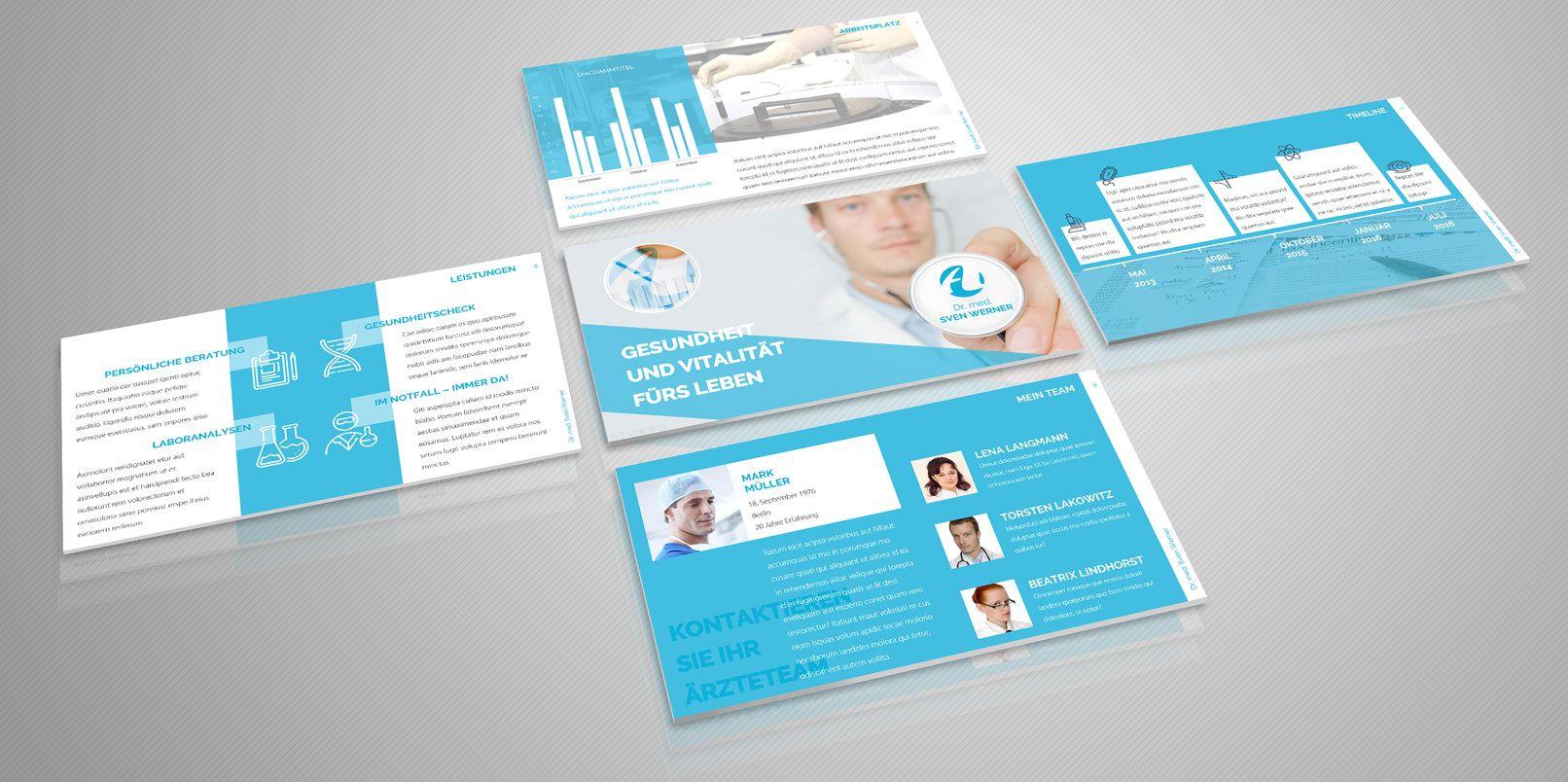 Moderne PowerPoint-Vorlagen | Powerpoint vorlagen, Vorlagen und ...