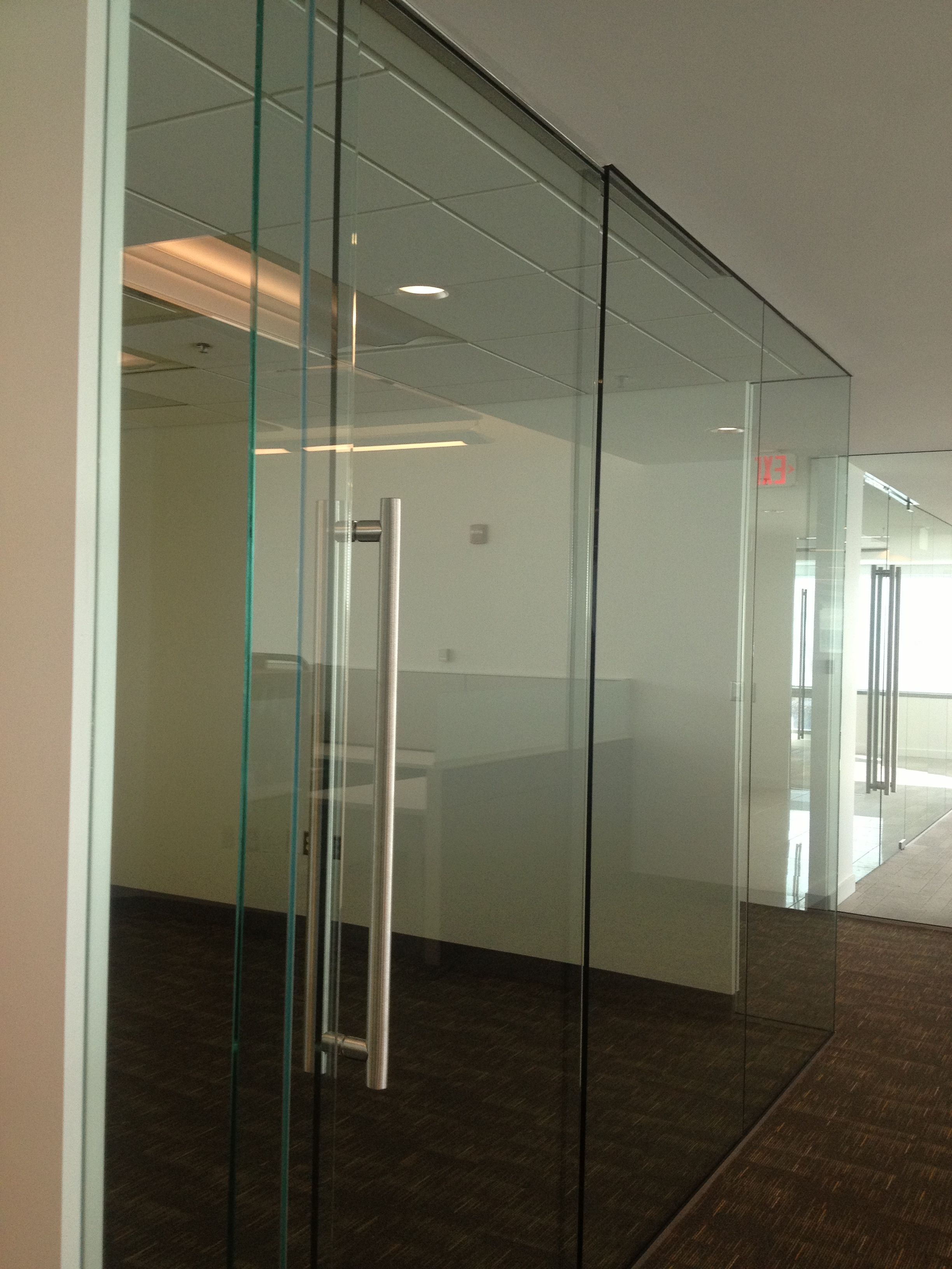Transwestern md frameless glass office fronts with for Frameless glass doors