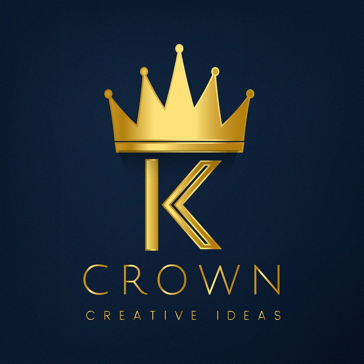 Download premium vector of Premium K crown brand vector