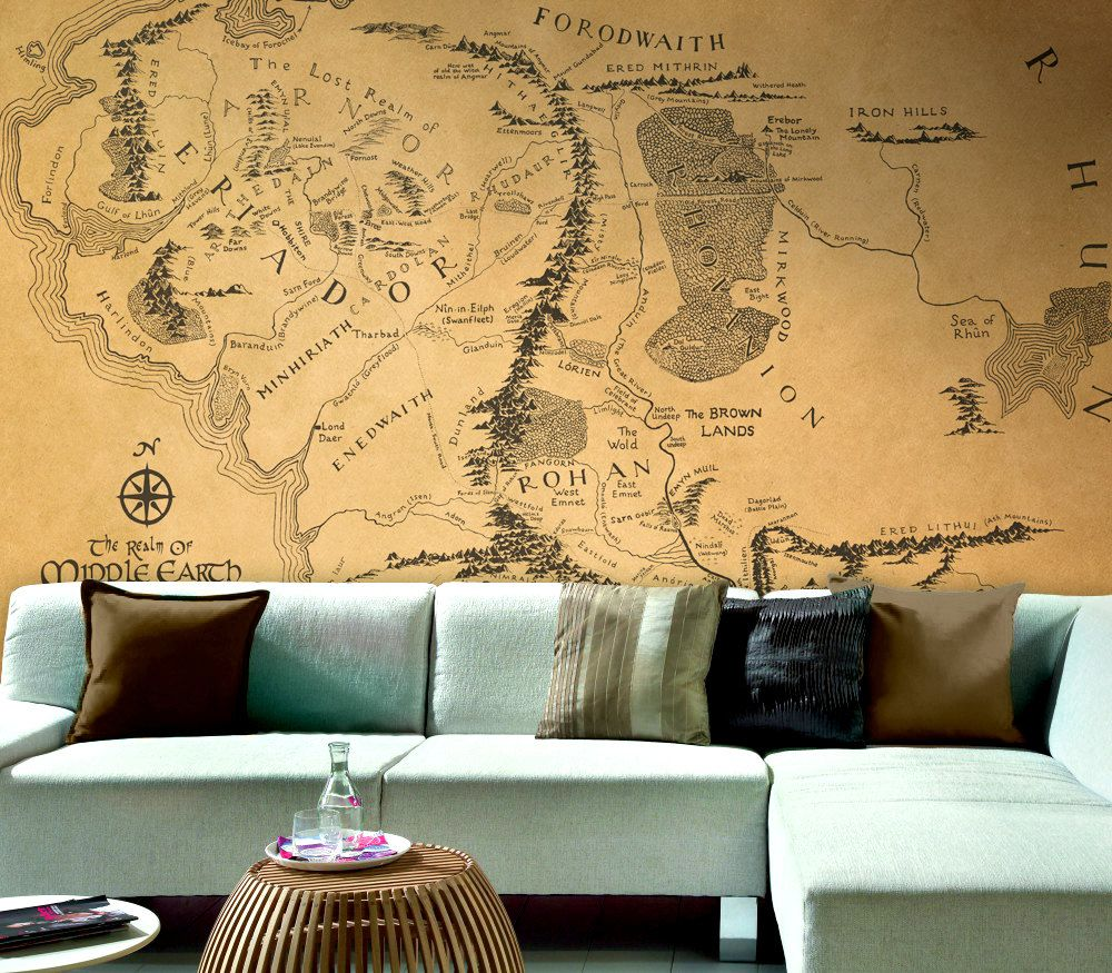 wall map of lord of the rings large wallpaper wall mural wall map of lord of the rings large wallpaper wall mural removable self adhesive vinyl wallpaper middle earth wallpaper
