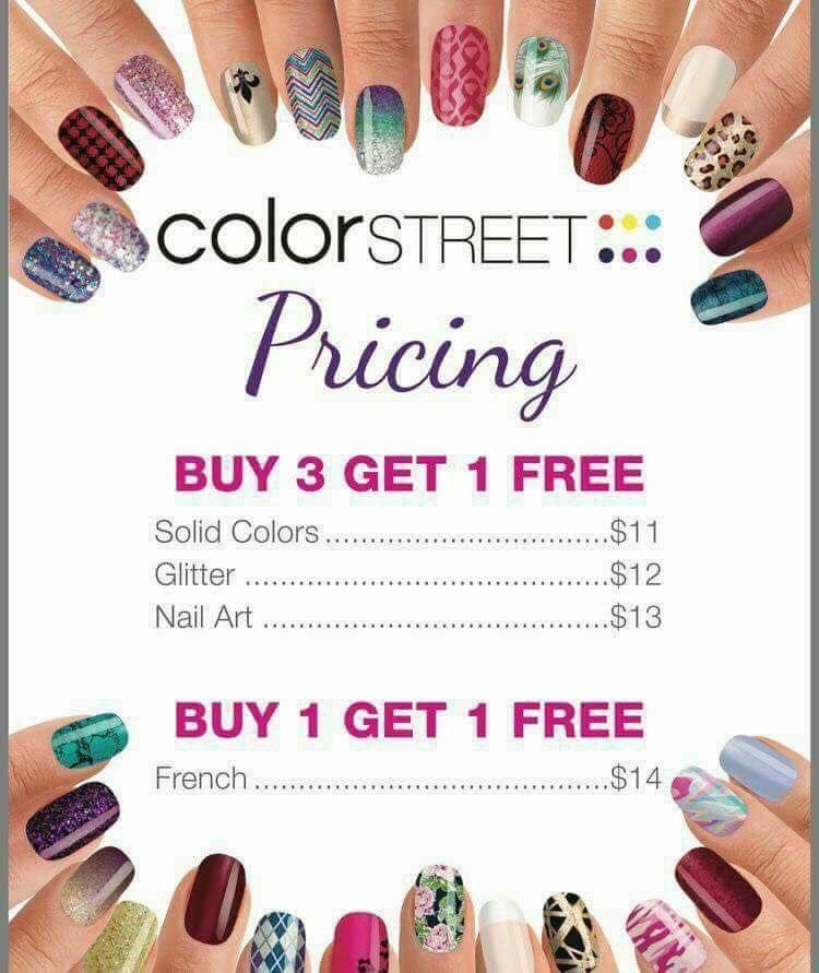 Buy 3 Sets Of Solid Glitter Or Nail Art Nail Strips And Get A
