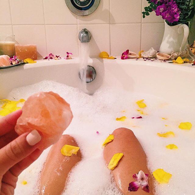 Himalayan Pink Salt Crystals Bringing My Detox Bath To A Higher