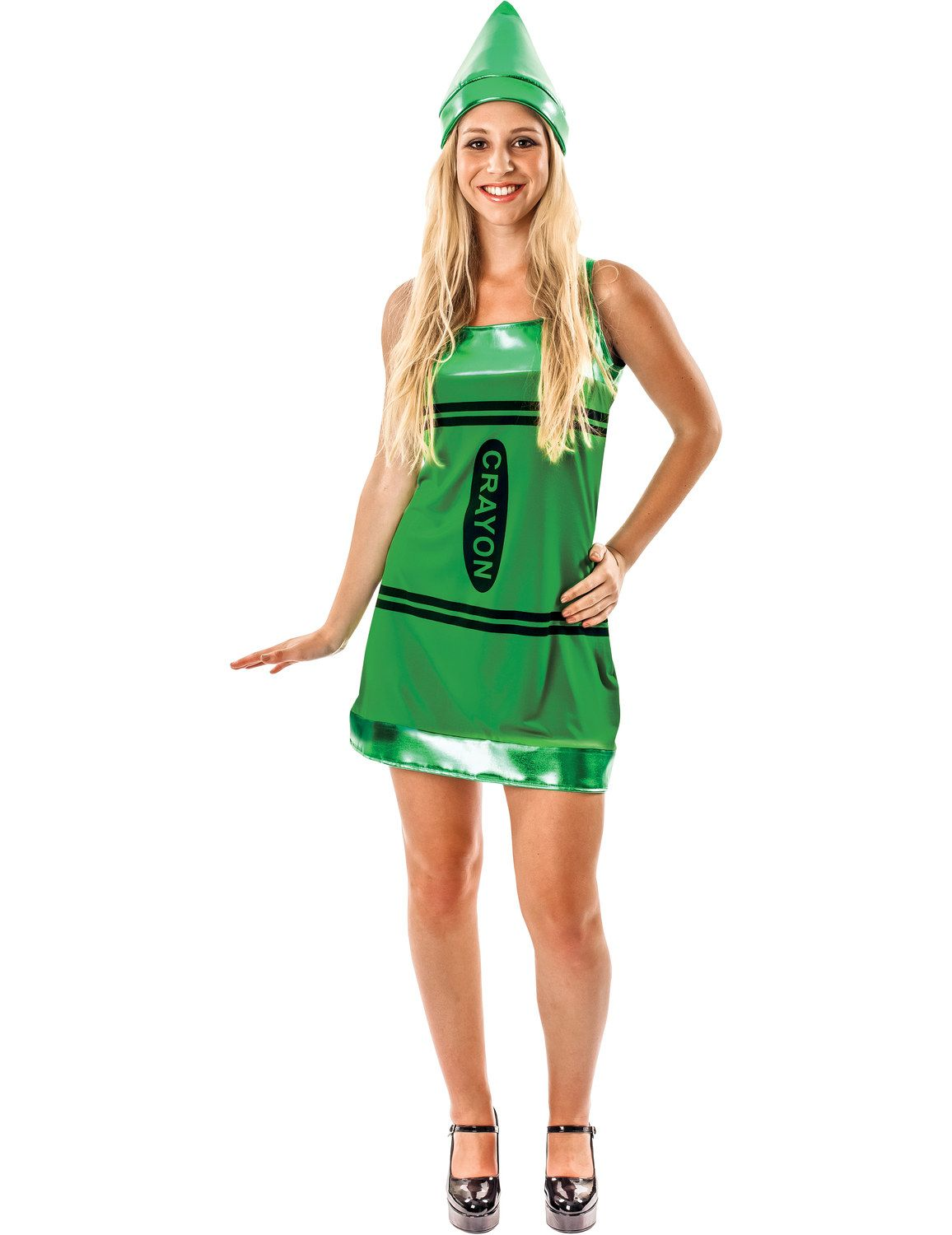 Adult Green Crayon Fancy Dress Costume Crayon Fancy Dress Fancy