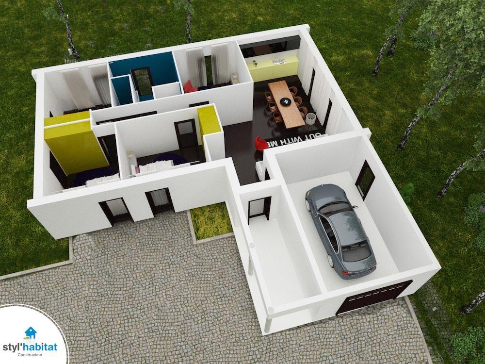 Maison du0027architecte PLAN MAISON 3D Pinterest