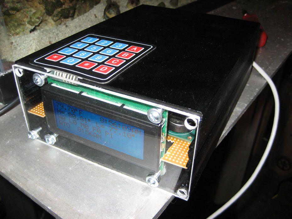 aquarium controller aquascape with organized cabinet arduino