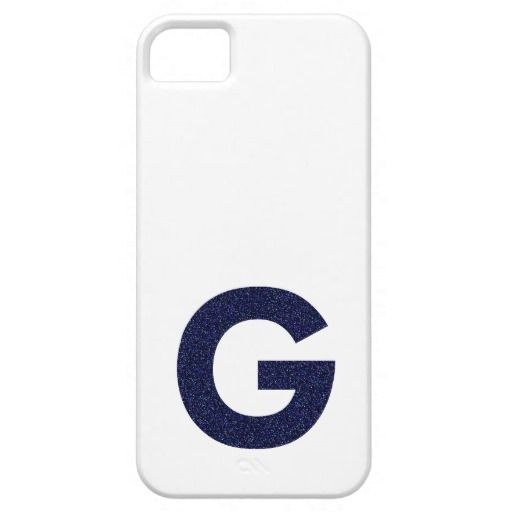 Monogram Capital G with Faux Glitter iPhone 5 Covers by Fashiontelligent