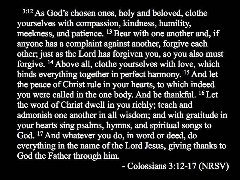 Colossians 3 12 17 This Chapter Is So Wonderful To Me We Used It For One Of Our Readings Wedding
