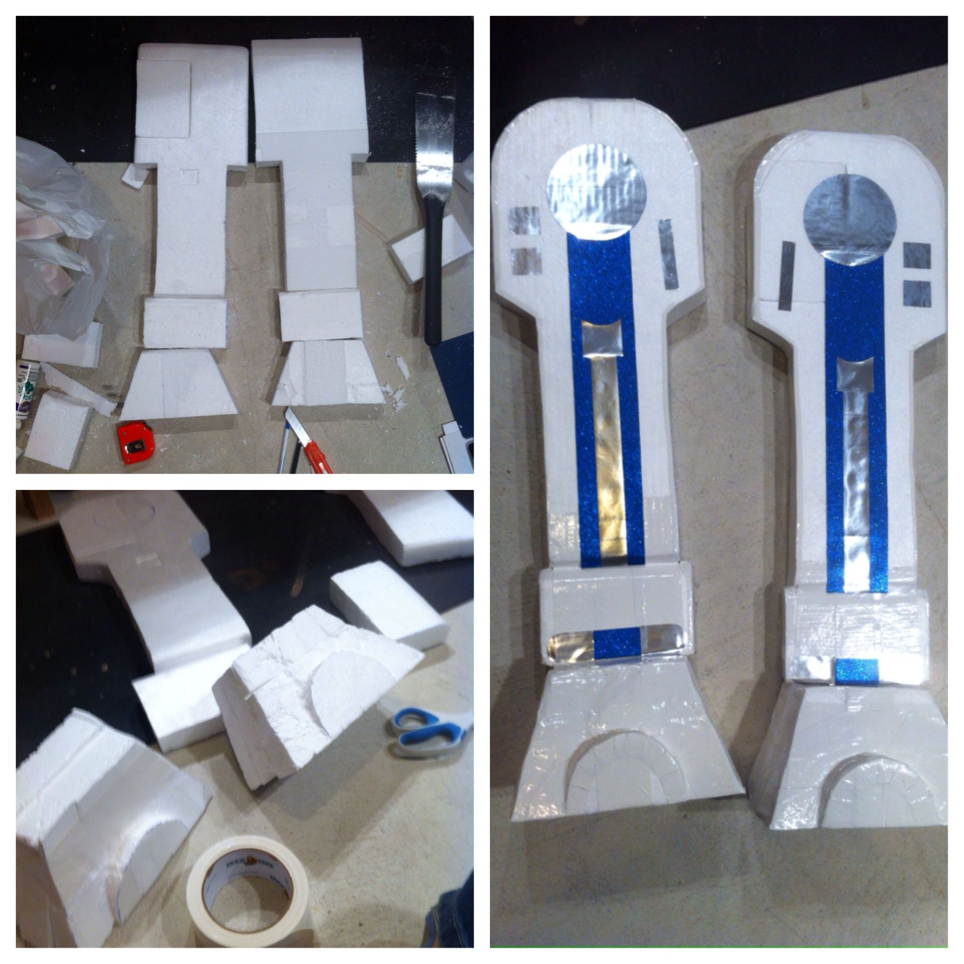 Here 39 s how i made the legs for the r2d2 costume i used for R2d2 leg template