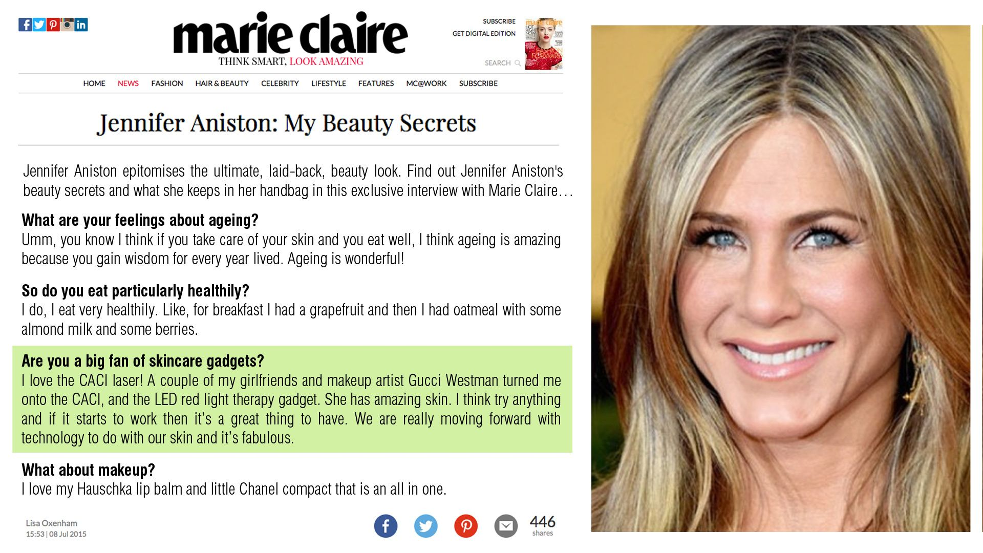 Celebrities love CACI nonsurgical face treatments Come and try