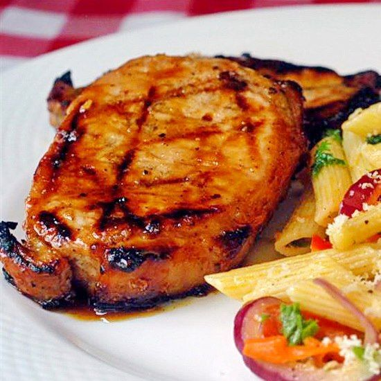 Honey and Orange Glazed Grilled Pork Chops