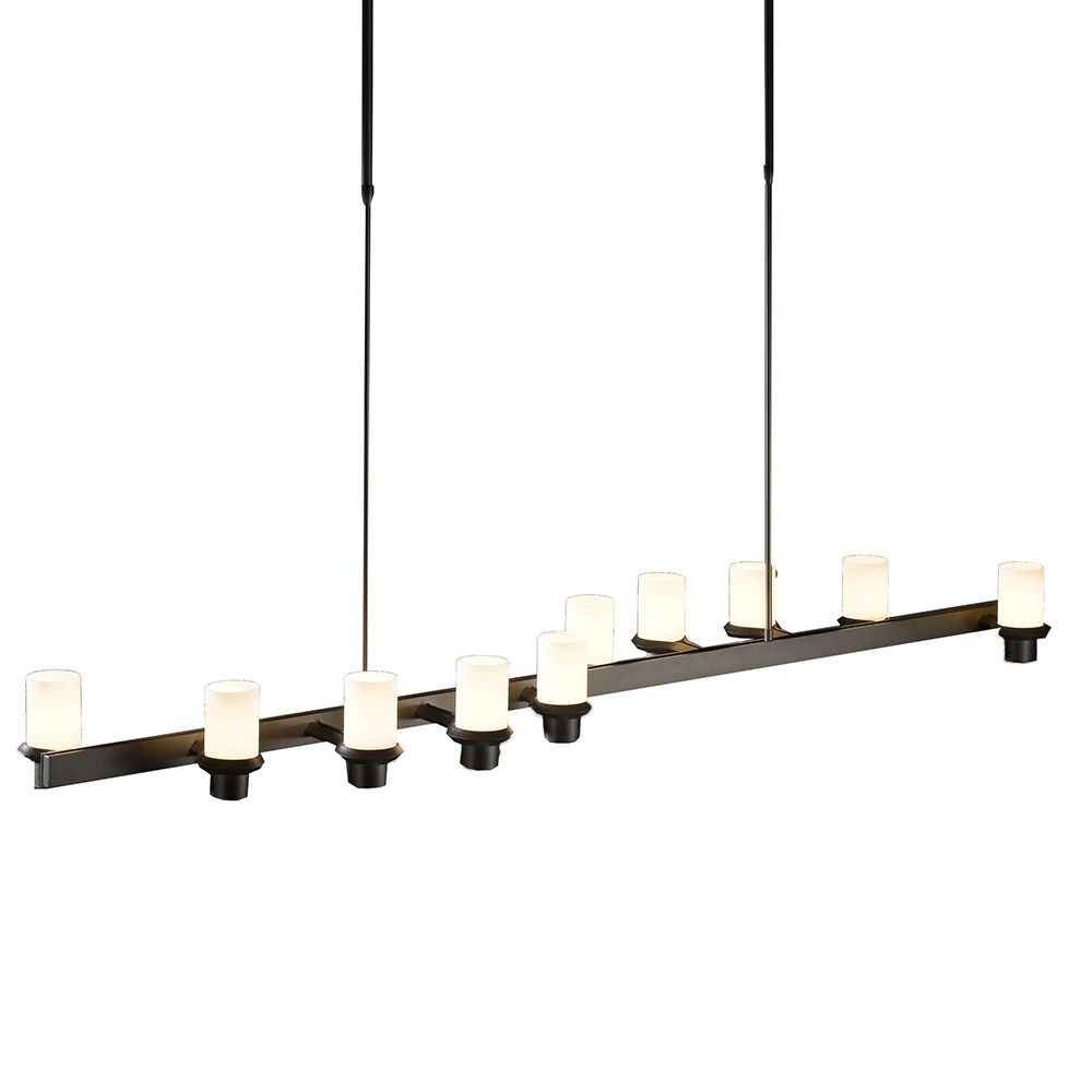 Staccato 10 Light S Pendant by Hubbardton Forge - http://www.lightopiaonline.com/staccato-10-light-s-pendant.html