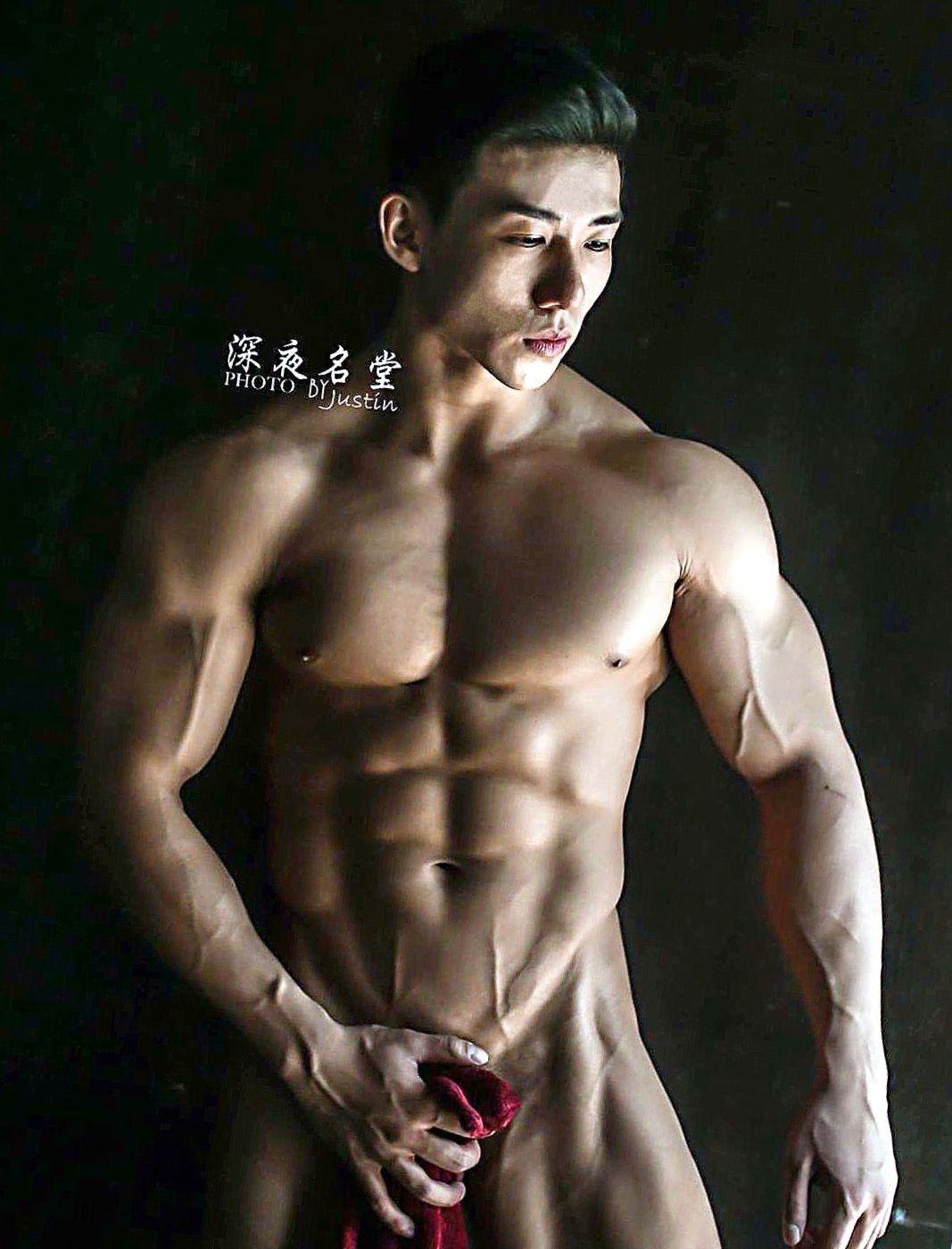 Hot asian muscle hunk