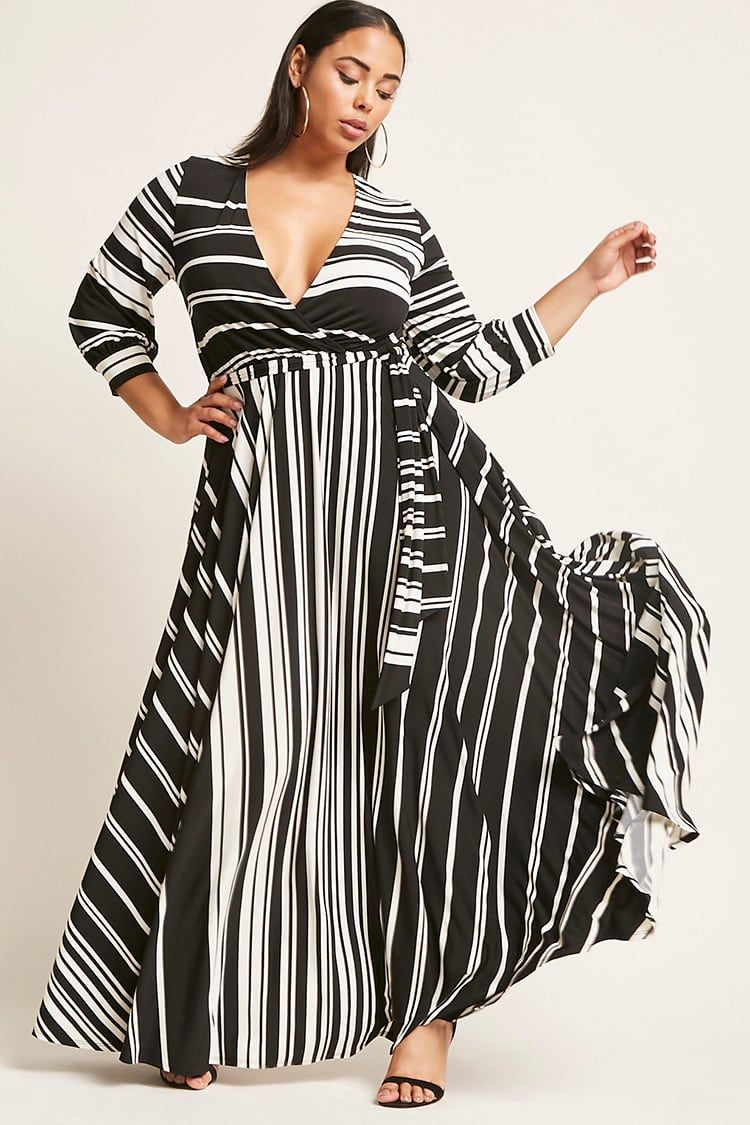 Plus Size Striped Maxi Dress - Plus Size - New Arrivals - 2000249417 ...