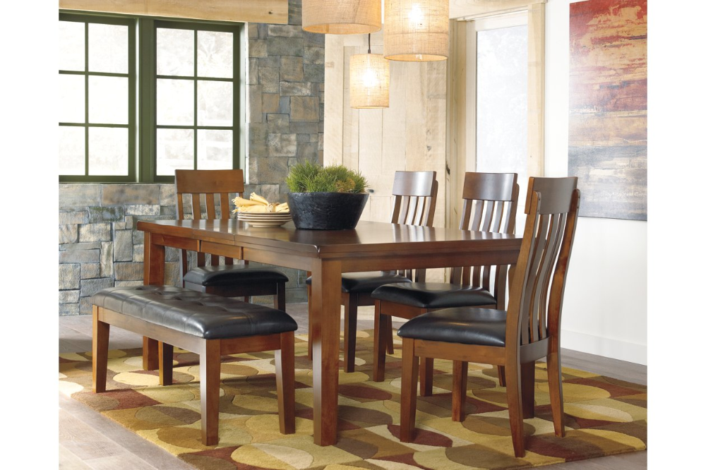 Ralene 6 Piece Dining Room Upholstered Dining Bench Dining Room Bench Dining Room Table Set