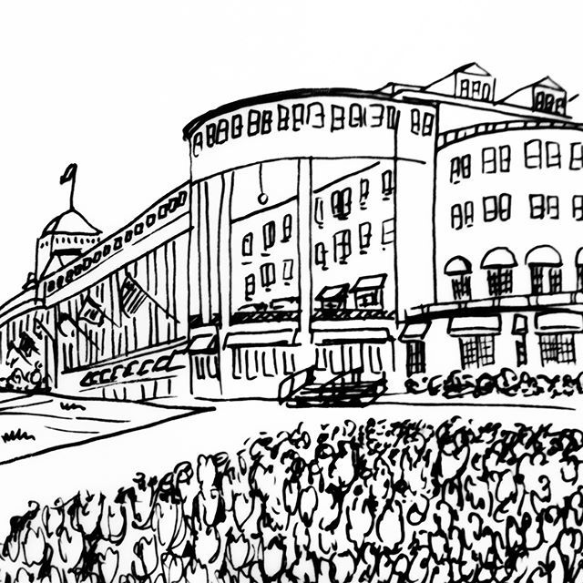 The Grand Hotel in Mackinac, Michigan as illustrated by Belle & Union Co. #hometowntuesdays #illustration #belleandunion