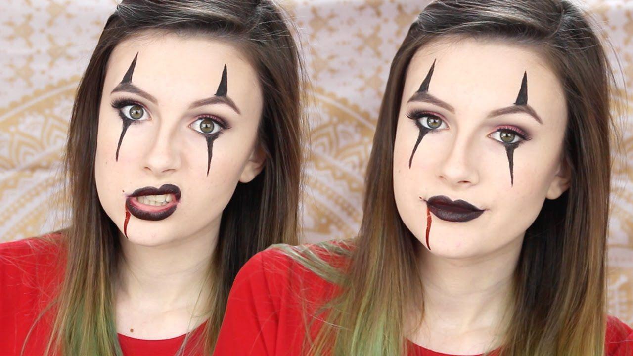 Creepy Clown Makeup Tutorial [EASY] Halloween YouTube