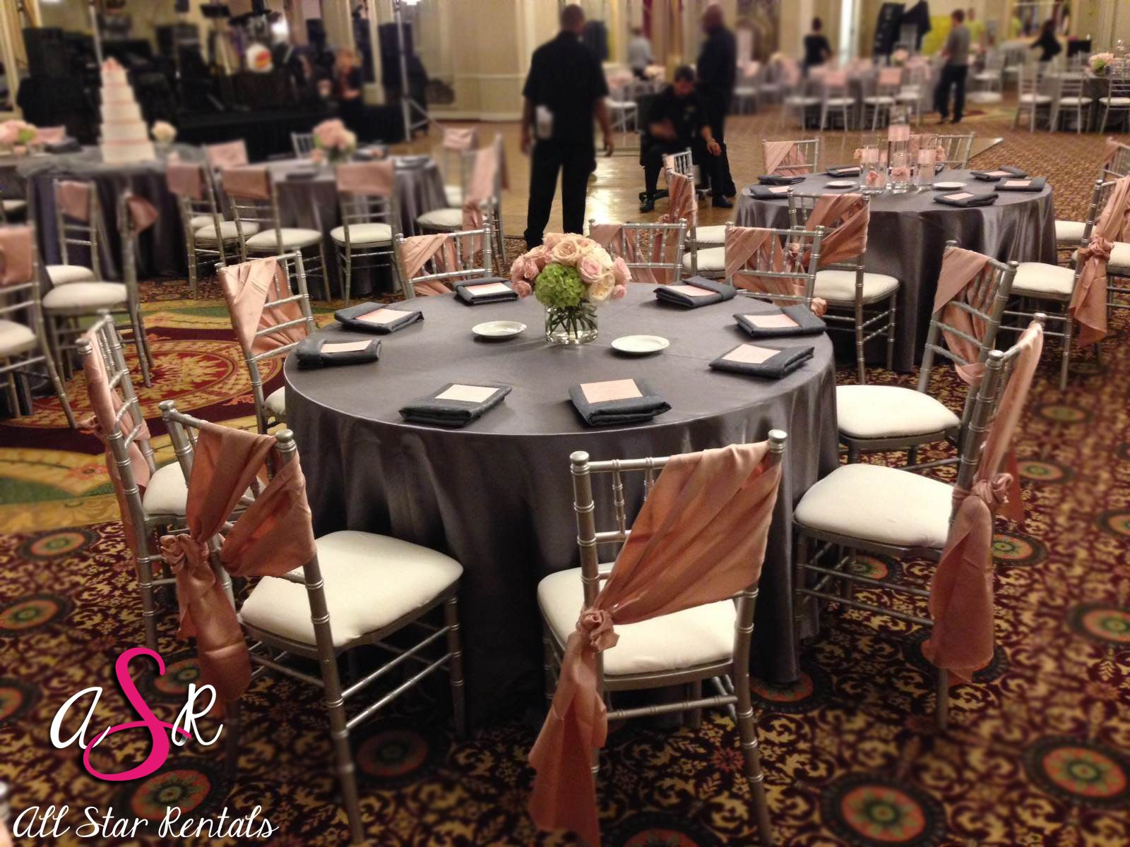 I love what they did with our silver chiavari chairs