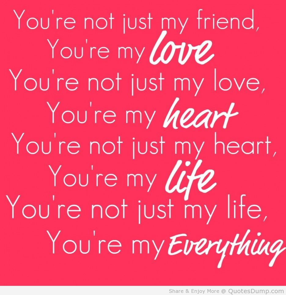 Youre My Love Quotes by quotesgram