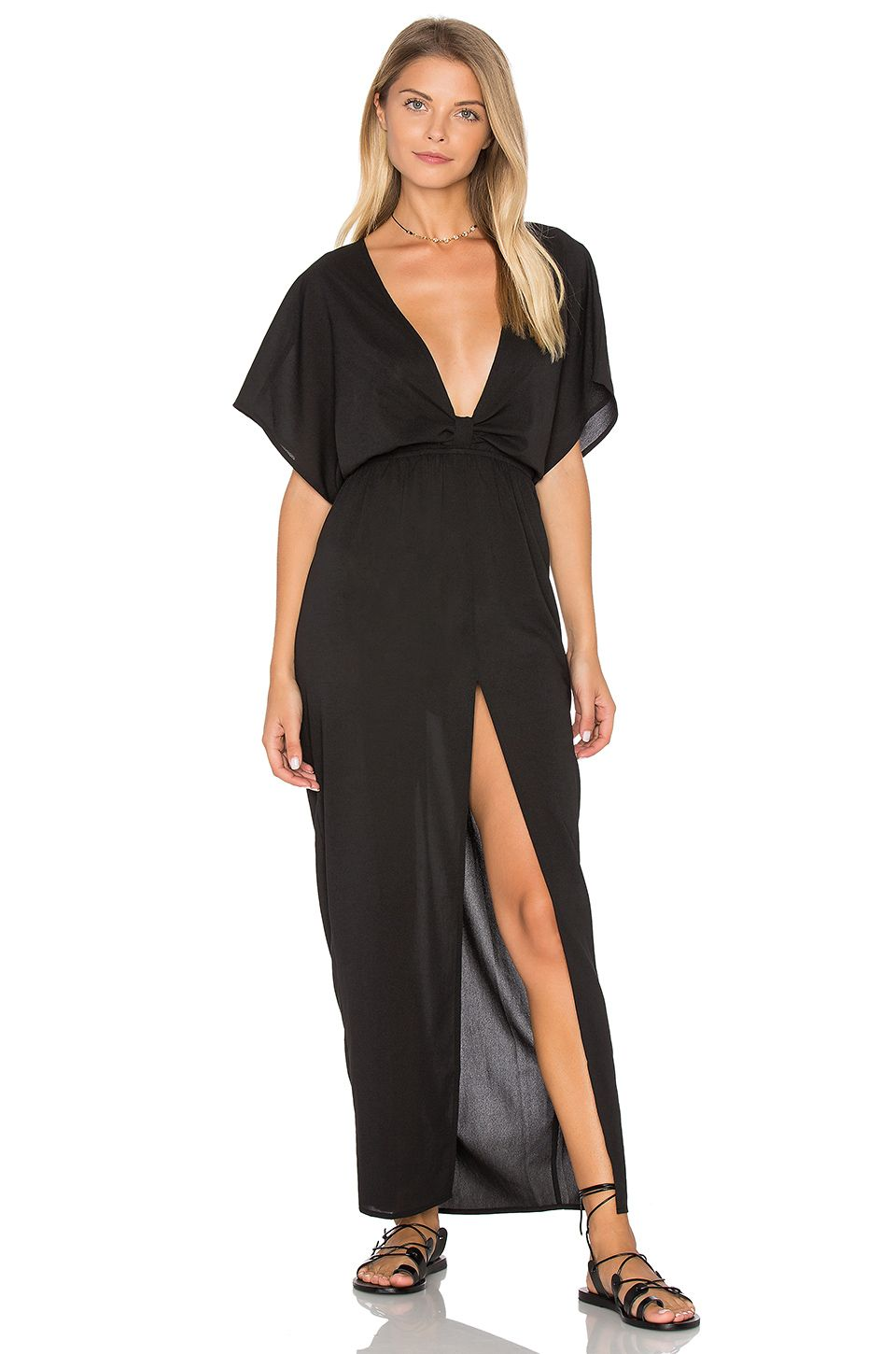 6 SHORE ROAD Chica Cover Up Dress in Black Rock | REVOLVE