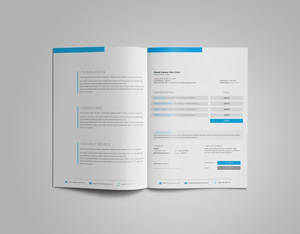 Corporate Proposal 001 on Behance Graphic Design Pinterest