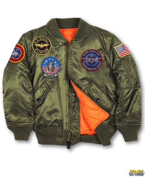 2cc30048b3a Kids Top Gun MA-1 Jacket