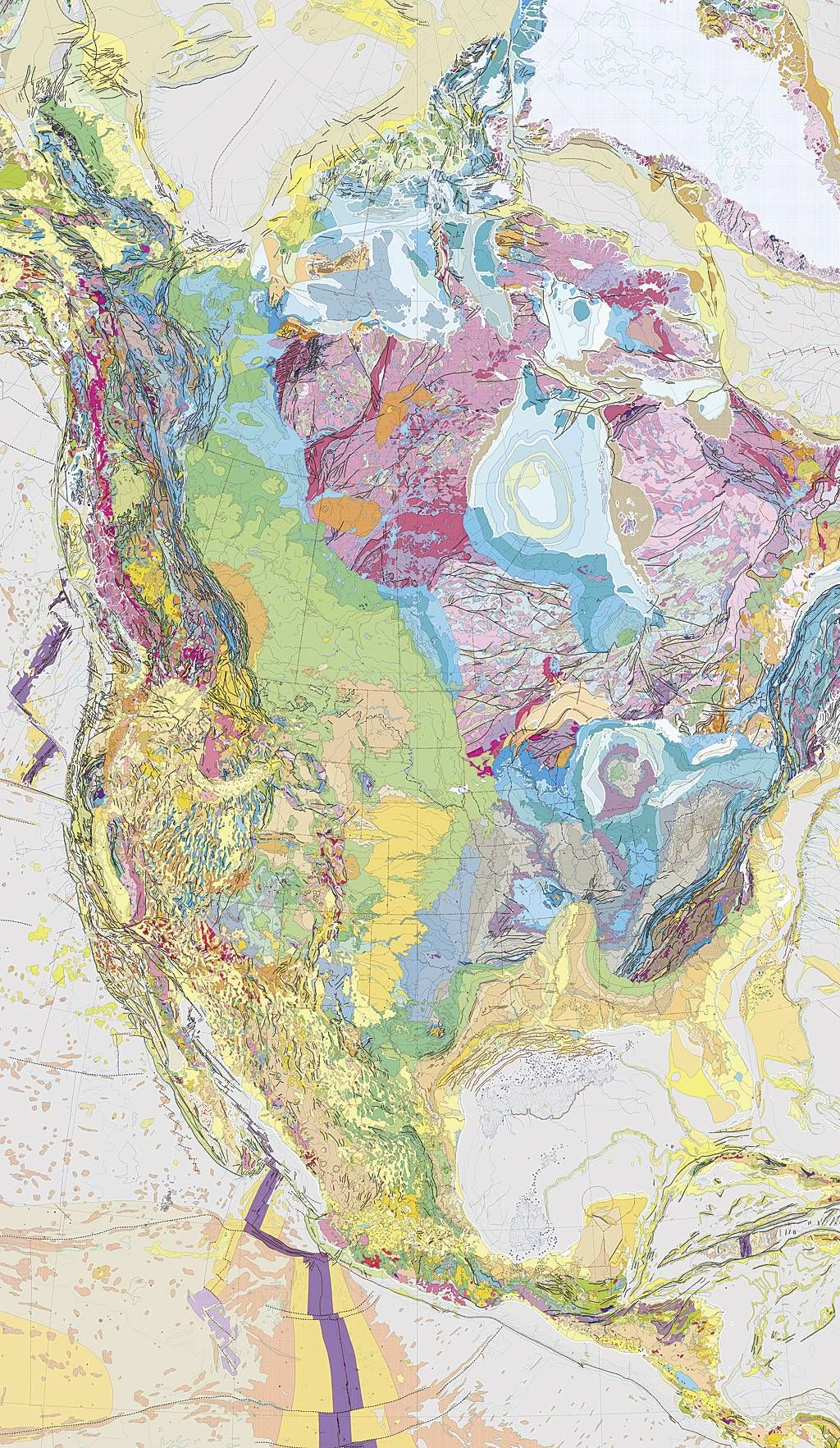 Geology of North America map More