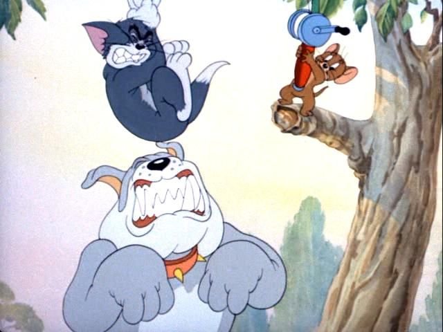 """""""Cat Fishin'"""" Tom and Jerry and Spike"""