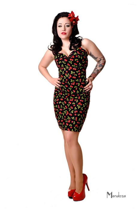Cherry Cardigan-Rockabilly 8 14 PIN UP Retro Vintage 1950s Steady Clothing