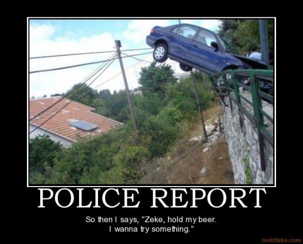 Police Report Fun Goofy Lol Insurance Humor Car Insurance