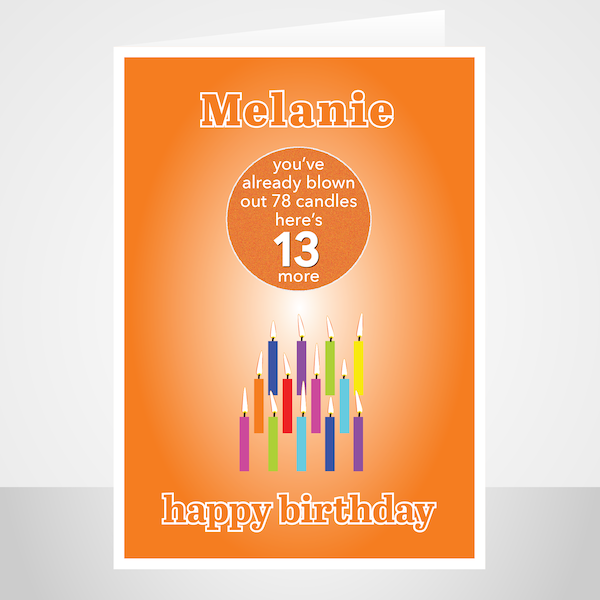 Funny Edit Name 13th Birthday Card For Boy For Girl