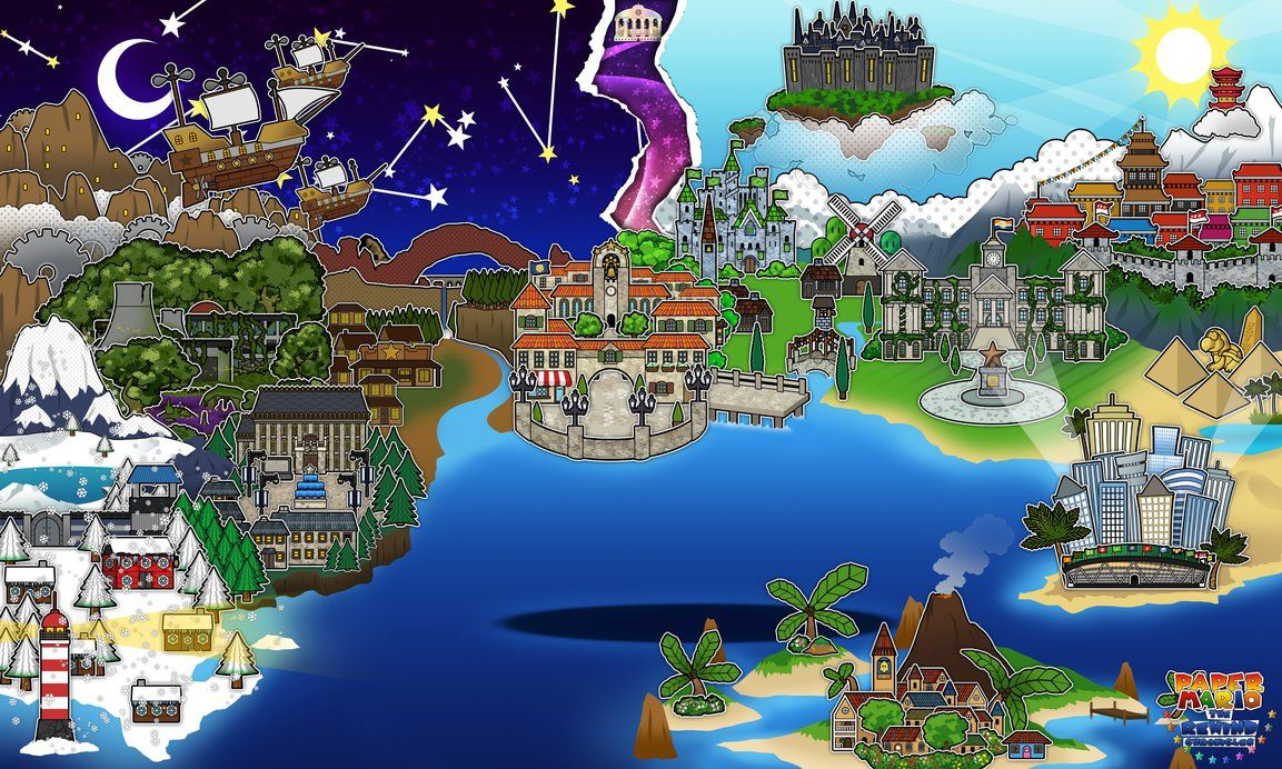 World map paper mario the rewind chronicles by the soupy one a kingdom loaded with history and the main world for marios side of the story in paper mario the rewind chronicles world map paper mario the rewind gumiabroncs Image collections