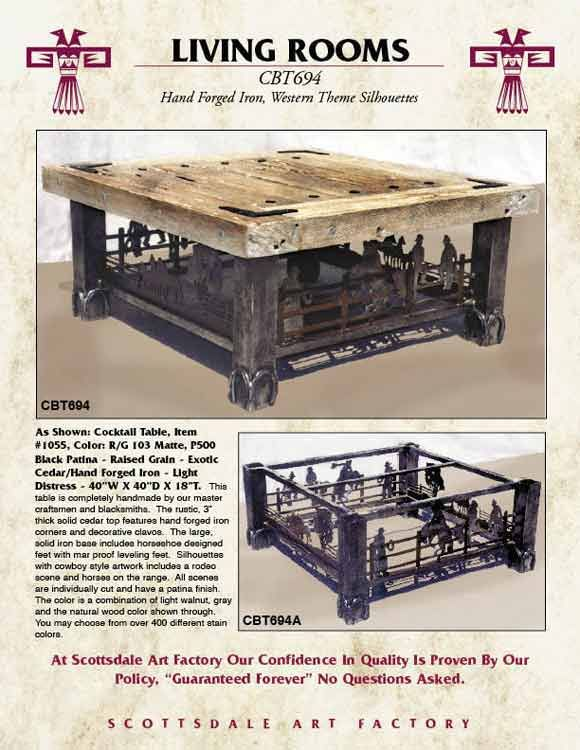 Coffee Table   Western Ranch Coffee Table   CBT694...so Interesting. Would  Love A Custom One From Personal Pics Of Our Bulls