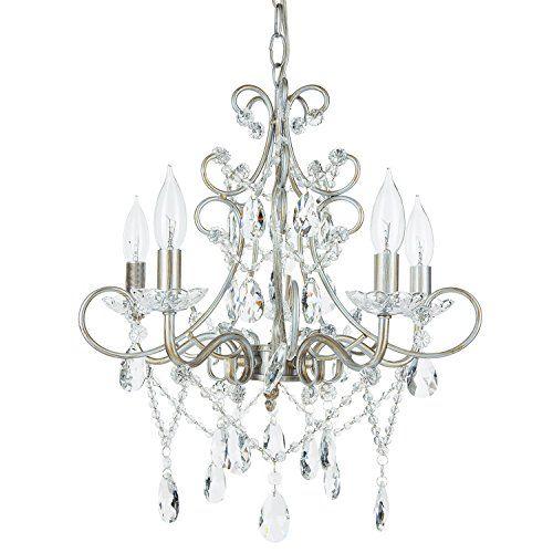 best bathroom light fixtures amalfi decor theresa silver crystal rh pinterest co uk