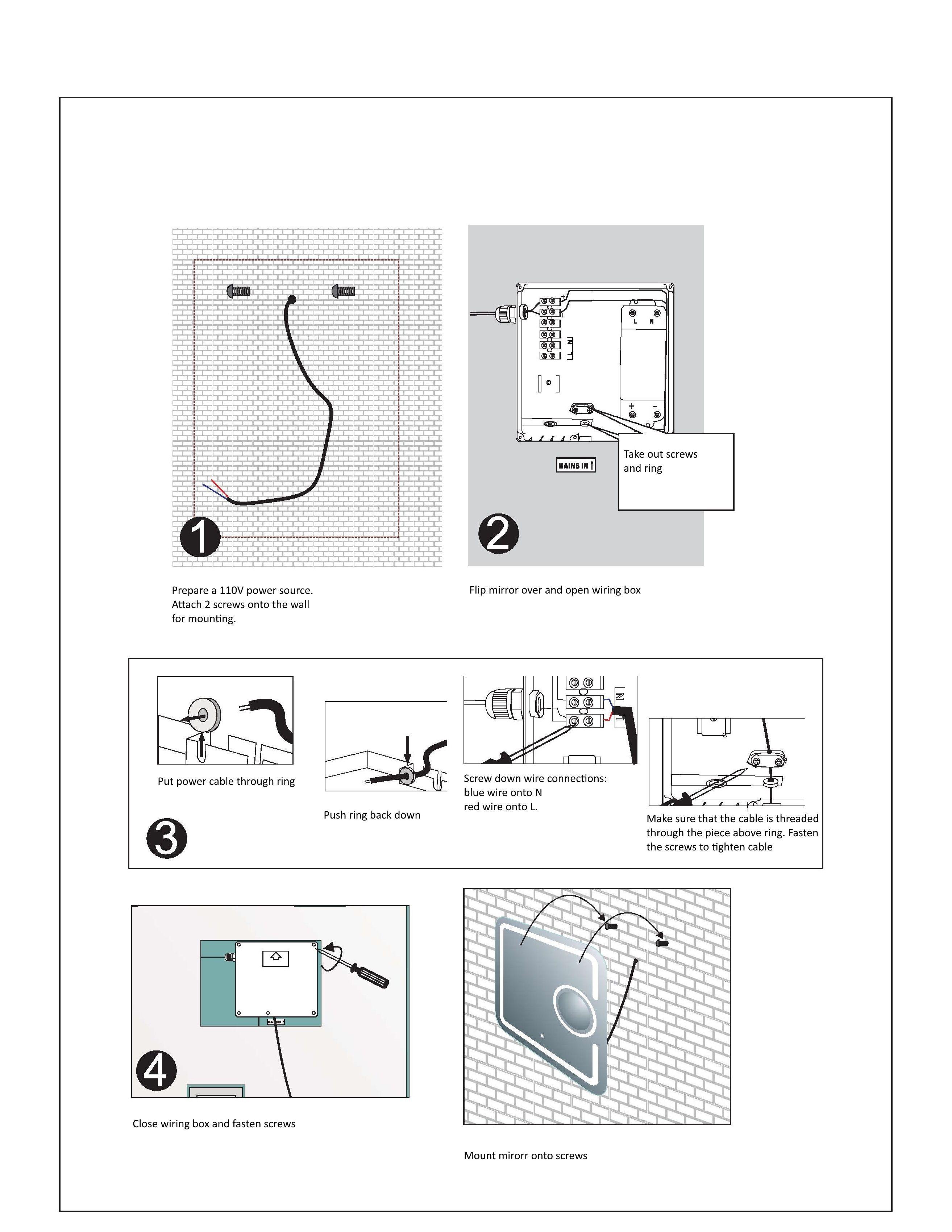 Led mirror wiring diagram circuit diagram symbols led mirror wiring diagram wire center u2022 rh mrguitar co 120v led wiring diagram simple led circuits swarovskicordoba Gallery