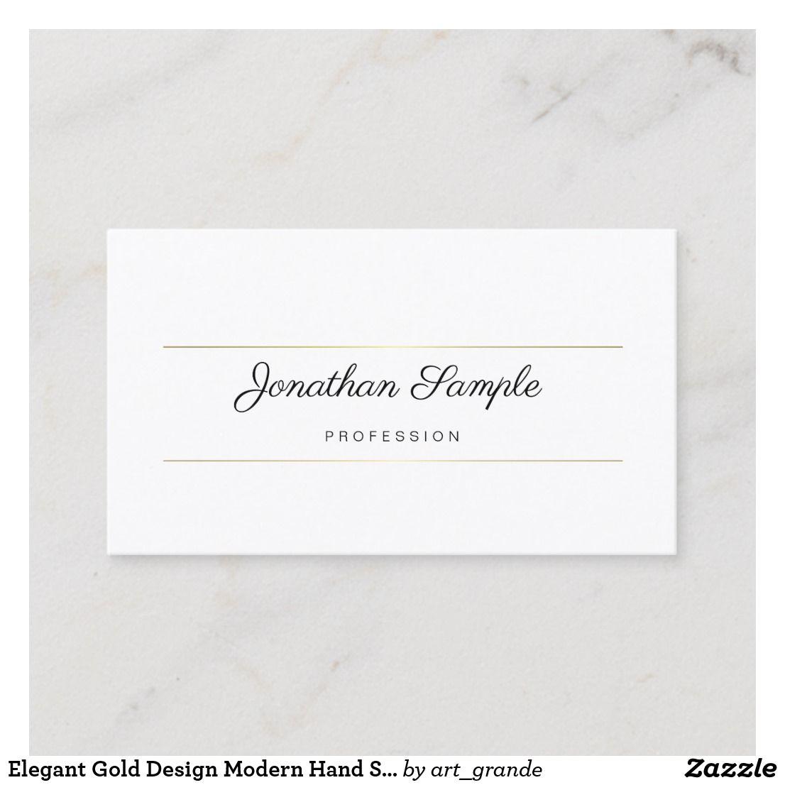Elegant Gold Design Modern Hand Script Template Business