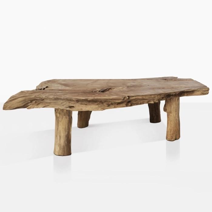 river-teak-root-coffee-table | Organic coffee table, Raw ...