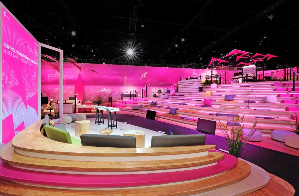 Deutsche Telekom Mwc 2016 On Behance Stage Set Design Stage Design Exhibition Design